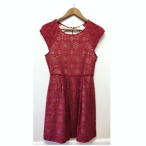 Mimi Chica | Lace Covered Dress Cute & Dainty EUC